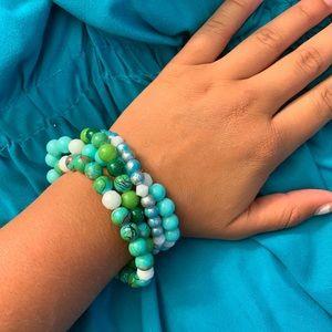 Handmade bracelet stack